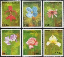 Guinea 1995 Lily/Poppy/Rose/Iris/Coneflower/Flowers/Plants/Nature 6v set (b5286)
