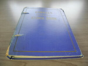 US, Parks, Precancels, & others in a battered Gimbels stock book(worn, aged,