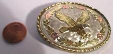 Small Eagle Goldtone / Silver Tone Oval Eagle Buckle 2.5 x 1 14/16 - Inv #W516