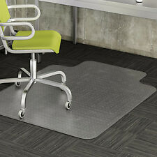 """New 48"""" x 36"""" PVC Chair Office Home Desk Floor Mat for Tile Wood 2mm With Lip OY"""