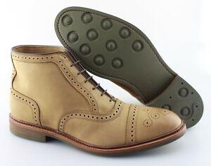Men's ALLEN EDMONDS 'Hamilton' Brown Leather Cap Toe Boots Size US 11 - E