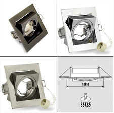 Spot 240V GU10, LED Tilted Ceiling Light, Square Downlight  Recessed Fitting