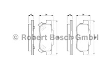 Brake Pad Set Disc Brake-Bosch 0 986 461 131