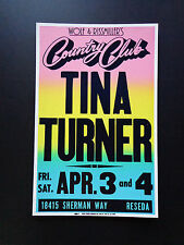 Tina Turner At The Country Club - Original Vintage Concert Promotion Poster