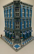 Custom Made LEGO City Town Modular MOC Apartment Building Shop 10185 10182 10197
