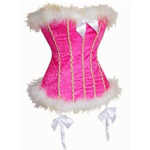 Pink Velvet and Marabou Corset