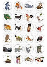 24 Jungle Book Wafer / Rice Paper Cupcake Topper Edible Fairy Cake Bun Toppers
