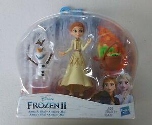 Frozen II Anna & Olaf Disney Doll and Basket Playset New Mini Figure