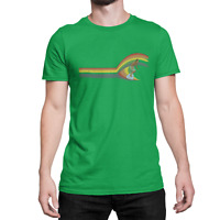 Surf Wave SURFING Mens ORGANIC Cotton T-Shirt Retro Birthday Gift Surfer Present
