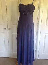 MONSOON stunning lavender purple 100% SILK maxi strappy or strapless dress UK 14