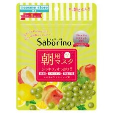 [BCL] Saborino Morning Care 3 in 1 Peach and Grapes Facial Mask 5pcs/1pack NEW