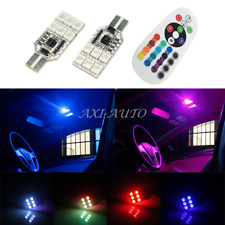 Pair LED RGB Multi Color T10 168 W5W 2825 194 175 Map Dome Interior Marker Light