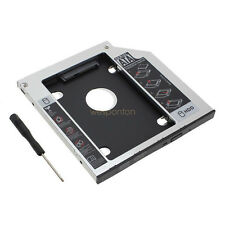 """SATA 2nd SSD HDD 2.5"""" Hard Drive Caddy For Laptop 12.7mm CD/DVD-ROM Optical Bay"""
