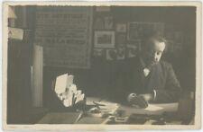 Carte photo. Le chansonnier Georges Maussang. Socialisme. POF. SFIO. Autographe