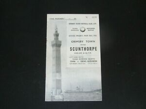 1955-56 DIV 3 GRIMSBY TOWN v SCUNTHORPE UNITED