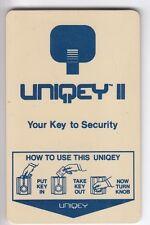 CARTE / CARD  HOTEL CLE  KEY .. FRANCE USA UNIQUEY II BLUE SECURITY MAGNETIQUE