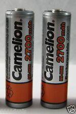 2 Pcs Camelion AA Rechargeable 2700mAh Battery 1.2V Ni-MH