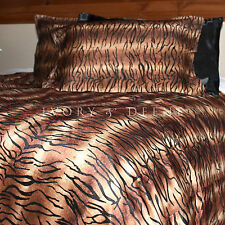 Velvet Fur Tiger Print QUEEN SIZE Doona Duvet Quilt Cover Set New Animal Bedding