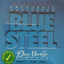Dean Markley 2562A Blue Steel Electric Guitar Strings 11-60 med-7 gauge