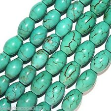CHINESE TURQUOISE OVAL BEADS 5X8MM OVAL BEAD STRAND S37