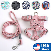 Cute flower Cat Harness and Leash Dog Leash with Adjustable Strap Collar