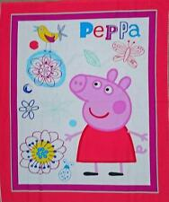 Patchwork Quilting Sewing Fabric PEPPA PIG NEW Cotton Material Panel 90x110cm...