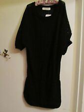 Oversize Black See Through Knit Cotton Zara Dress in Size M / Size 12 - 14 - NWT