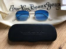RetroSpecs & Co. White Gold framed 40's Aviators with graded blue tint lens!!