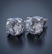 Round Cut Large Lab Simulated Diamond Sterling Silver Stud Earrings