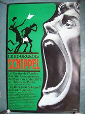 belle affiche théatre atelier bourgeois Schipel Bruxelles Jacques Richez 1977