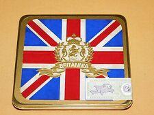 BRITISH FLAG REX BRITANNIA DOMINICAN REPUBLIC CIGAR TIN EMPTY