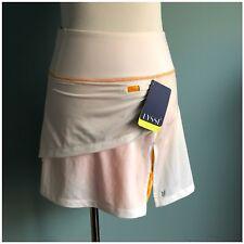 NWT Lysse Active White Orange Tennis Skirt Skorts size S