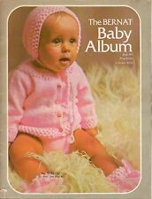 Baby Knitting Crochet Patterns Bernat Album Sweaters Layette Hats Vintage 1972