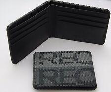 JDM RECARO Seat Gradation Logo Wallet Custom Stitched Leather Racing-Silver/Grey