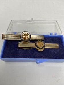 2 Vtg Public Service Colorado 15 & 20 Year Award Tie Bar Clasp 12k 1/20 GF 10K