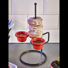 Doughnut/Onion Ring Stand Pretension 20.5x22x33.5cm Calamari Side Dish Pub Bar