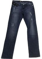 NWT $88.00 Rock & Republic Womens Jeans Rhinestone Ripped Skinny Size  12M