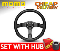 Momo Competition Steering Wheel  Ø 350 mm SET with BOSS KIT HUB to your car