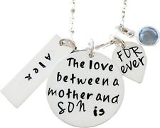 The Love Between a mother and SON is Forever - Sterling Silver Mommy Necklace