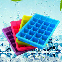 24-Grid Ice Cube Tray Food-Grade Silicone Square Ice Cream Maker Mold With Lid
