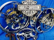 Harley FLHX RIMS  CHROME STREET GLIDE ENFORCER CHROME WHEELS,ROTORS PULLEY ABS