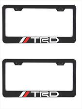 2X  Stainless Steel TRD Black License Plate Frame Holder Screw  Caps For Toyota