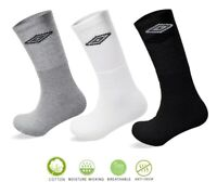 3 Pairs Umbro Mens Cotton Rich Sports Casual Trainer Work Socks 6 - 11