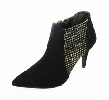 Textured Slim Heel Ankle Boots for Women