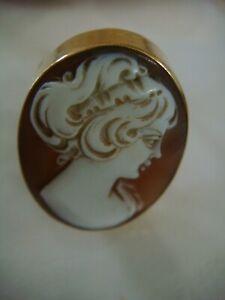 Vintage 9ct Gold Cameo Ring Size V