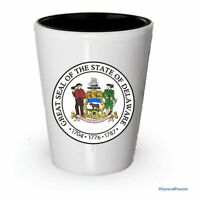 The state seal of Delaware Shot glass - Gifts for Delaware People