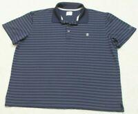 Izod Golf Polo Shirt Short Sleeve XL Extra Large Blue Gray Striped Man's Men's