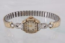 FOR PARTS & OR REPAIR BULOVA DIAMOND L3 10K RG VINTAGE SWISS WRIST WATCH 3058B