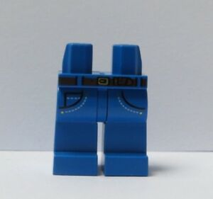 Lego 1 x Legs Leg For Minifigure Figure  Blue Pocket Belt Jeans