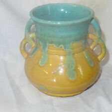 AUSTRALIAN POTTERY / BRUNSWICK 2 HANDLED VASE by SHELMAR